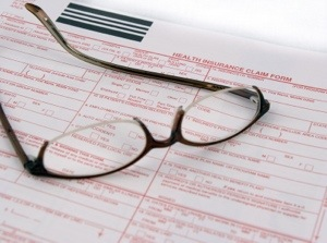 Medical Papers and Glasses