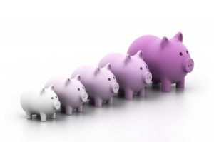 Piggy Bank In A Row