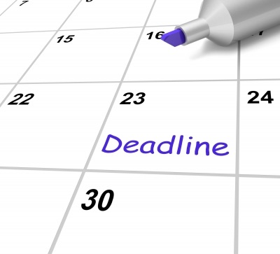 Deadline Calendar Means Target and Due Date