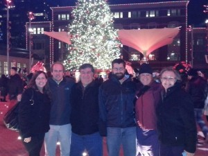 Angela, Kirby and Family in Fort Worth Sundance Square