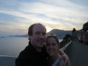 Kirby and Angela on the Amalfi Coast